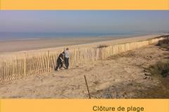 Cloture plage marais