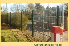 cloture camping parc et jardin grillage rigide