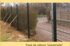pose de cloture industrielle parc et jardin