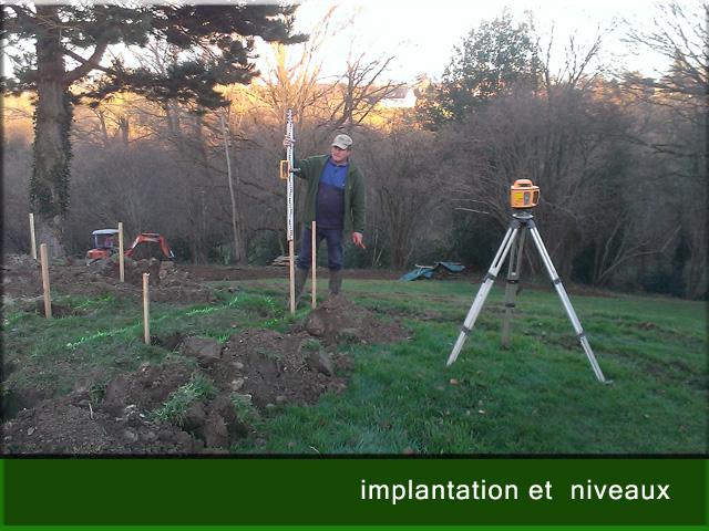 implantaion et niveau terrase
